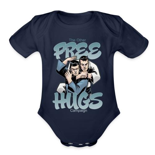 Judo shirt Jiu Jitsu shirt Free Hugs - Organic Short Sleeve Baby Bodysuit