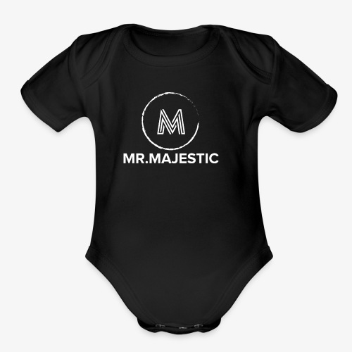 white logo transparent background - Organic Short Sleeve Baby Bodysuit