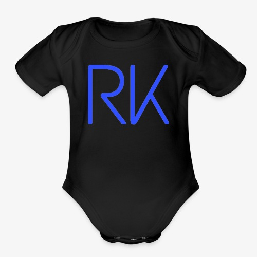 Blue Chill RK - Organic Short Sleeve Baby Bodysuit