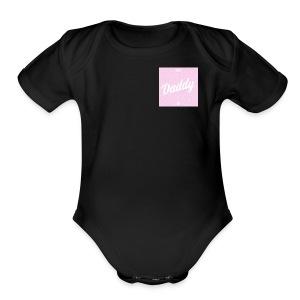 daddy - Short Sleeve Baby Bodysuit