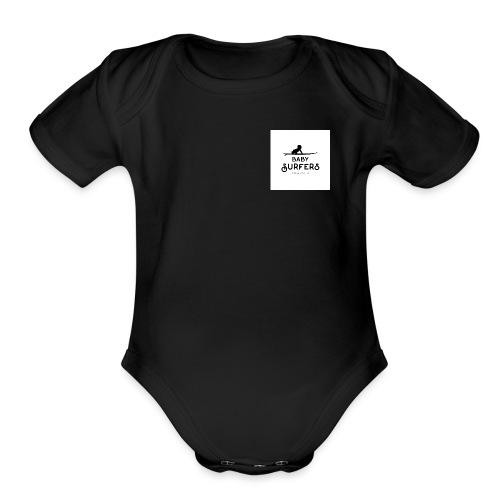 logo ecriture noir fonds blanc - Organic Short Sleeve Baby Bodysuit