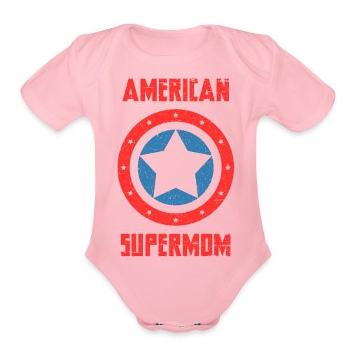 American Supermom - Organic Short Sleeve Baby Bodysuit