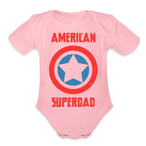 American Superdad - Organic Short Sleeve Baby Bodysuit