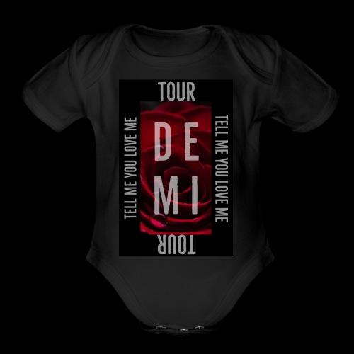 Demi Tell Me You Love Me Tour Shirt - Organic Short Sleeve Baby Bodysuit