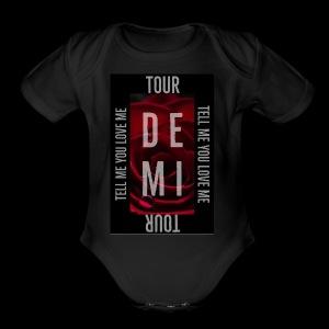 Demi Tell Me You Love Me Tour Shirt - Short Sleeve Baby Bodysuit