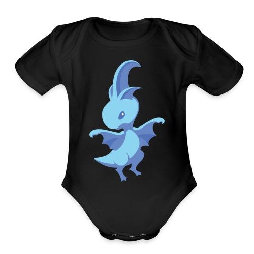 Aqualine Dragon - Organic Short Sleeve Baby Bodysuit