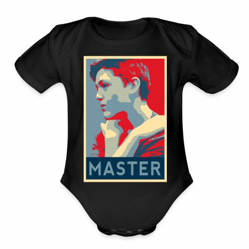 MASTER Poster - Organic Short Sleeve Baby Bodysuit