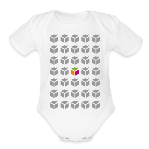 grid semantic web - Organic Short Sleeve Baby Bodysuit