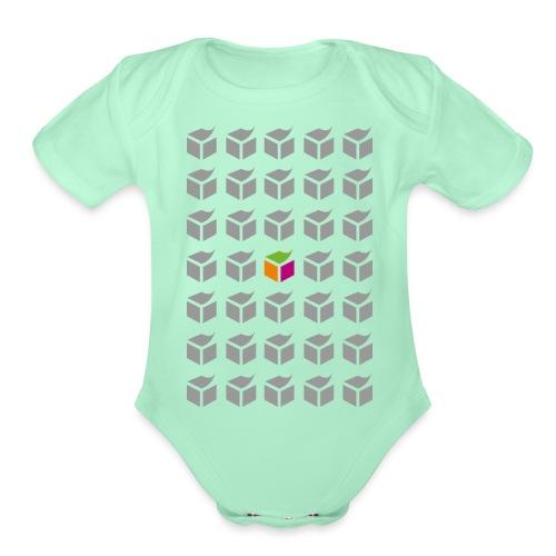 grid semantic web - Organic Short Sleeve Baby Bodysuit