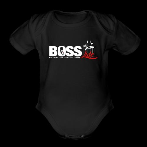 BOSS LYFE - Organic Short Sleeve Baby Bodysuit