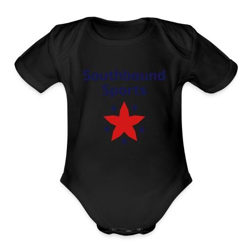 Southbound Sports Stars Logo - Organic Short Sleeve Baby Bodysuit