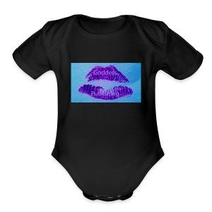 Goddess Moon Pulishing Puple Lipstick Logo - Short Sleeve Baby Bodysuit