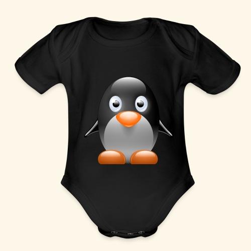 baby pinquin - Organic Short Sleeve Baby Bodysuit