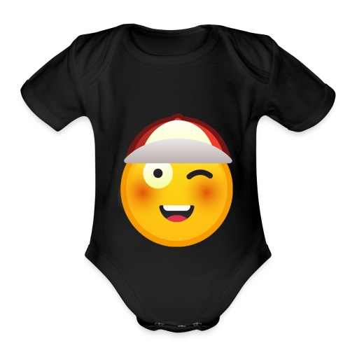 I am happy merch - Organic Short Sleeve Baby Bodysuit
