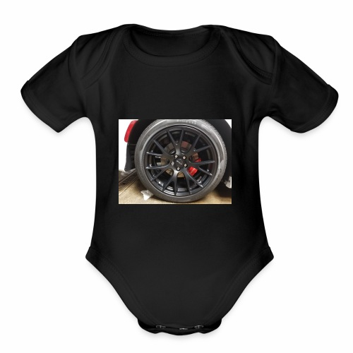 I have the wheel show me the way - Organic Short Sleeve Baby Bodysuit