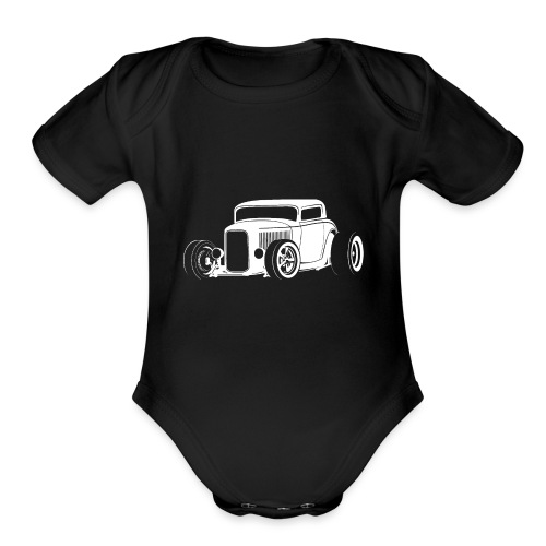 Classic American Hot Rod - Organic Short Sleeve Baby Bodysuit