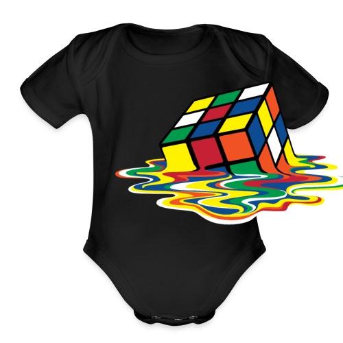 meltingcube - Organic Short Sleeve Baby Bodysuit
