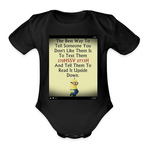 22312eac233ad515db9f8003c494f795 chef funny minio - Organic Short Sleeve Baby Bodysuit