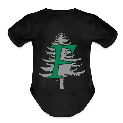 Ffynnon simple logo - Organic Short Sleeve Baby Bodysuit