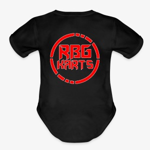 Back Shirt RBG Logo With White - Short Sleeve Baby Bodysuit
