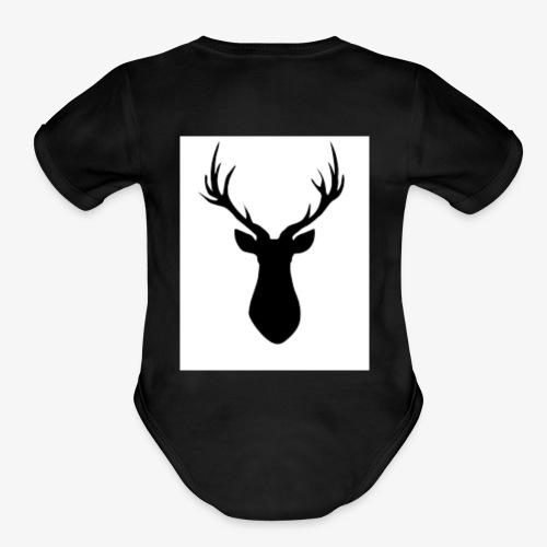 Rustic Antlers - Organic Short Sleeve Baby Bodysuit