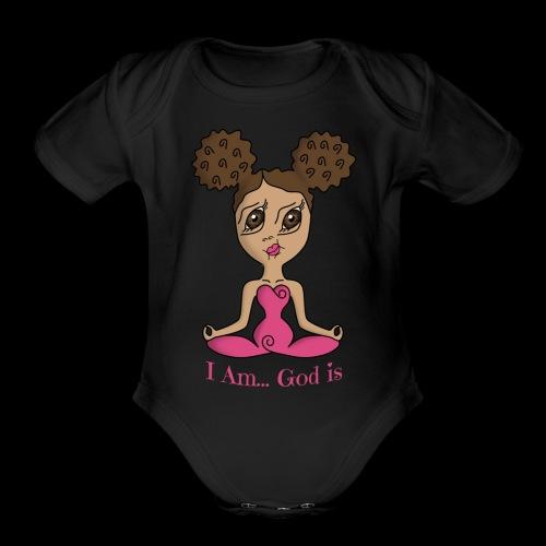 I Am God is Light - Organic Short Sleeve Baby Bodysuit