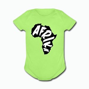 Black Afrika Continent with white word - Short Sleeve Baby Bodysuit