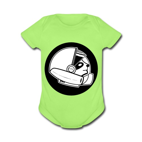 Space Sloth Logo - Organic Short Sleeve Baby Bodysuit