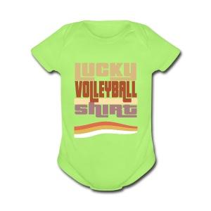 Lucky valleyball tshirt - Short Sleeve Baby Bodysuit