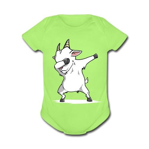 Funny Goat Dabbing - Organic Short Sleeve Baby Bodysuit