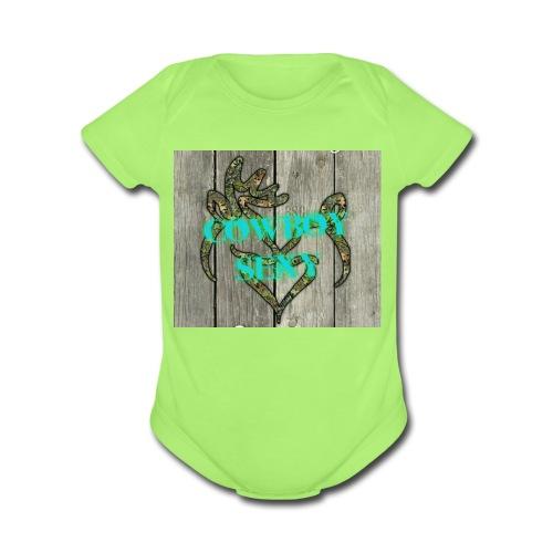 CowboySexy - Organic Short Sleeve Baby Bodysuit