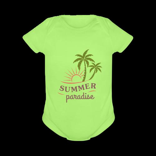 design-10 - Organic Short Sleeve Baby Bodysuit