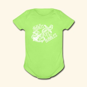 No troubles - Short Sleeve Baby Bodysuit