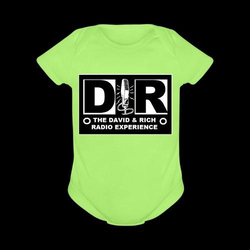 DAVERICHLOGOBLACK1 - Organic Short Sleeve Baby Bodysuit