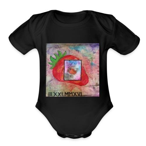 strawberry - Organic Short Sleeve Baby Bodysuit