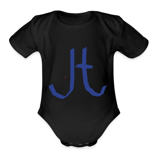 JT merch two youtubers conbined merch - Organic Short Sleeve Baby Bodysuit