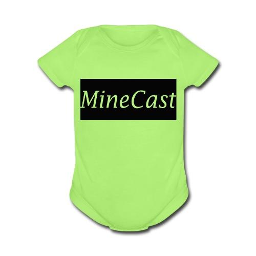 MineCast Merch - Organic Short Sleeve Baby Bodysuit