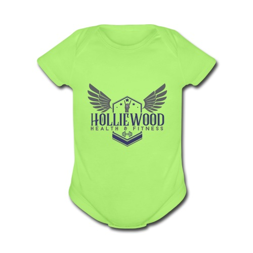 HollieWood Health & Fitness - Organic Short Sleeve Baby Bodysuit