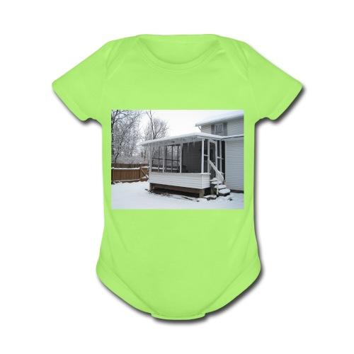 009 - Organic Short Sleeve Baby Bodysuit