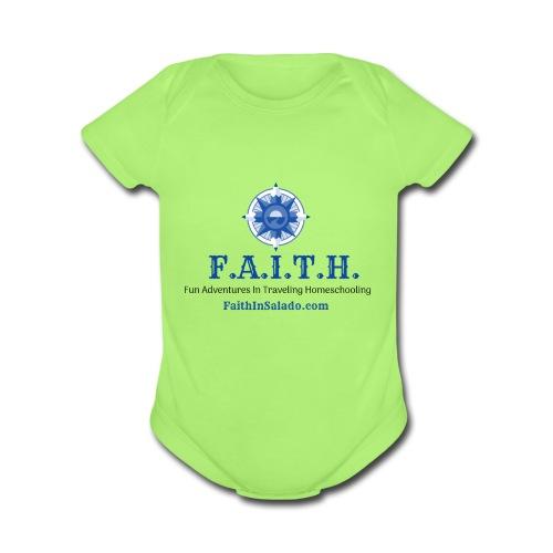 F.A.I.T.H. Members Shop - Organic Short Sleeve Baby Bodysuit
