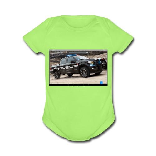 Ford truck - Organic Short Sleeve Baby Bodysuit