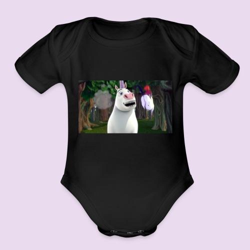 Unicorn Worthless - Organic Short Sleeve Baby Bodysuit