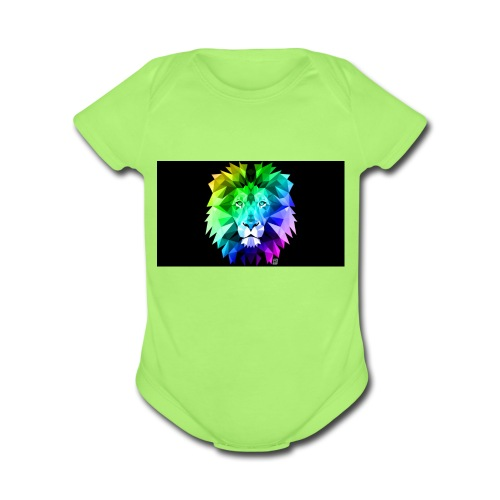 cool lion - Organic Short Sleeve Baby Bodysuit