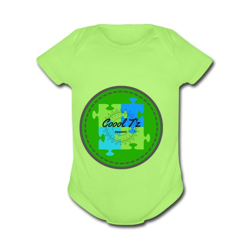 Coool T'z Green - Organic Short Sleeve Baby Bodysuit