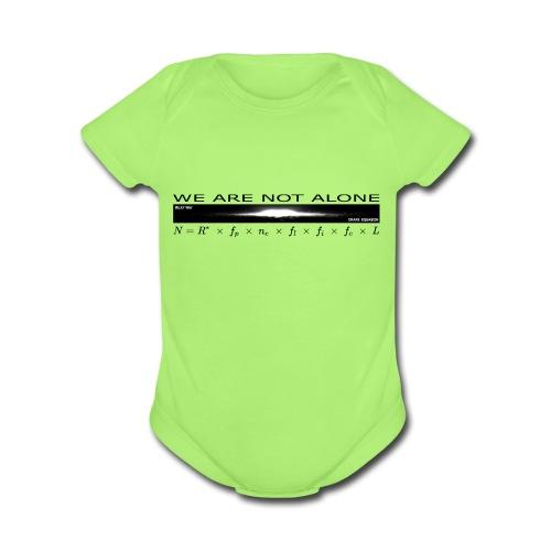 We are not alone - Organic Short Sleeve Baby Bodysuit