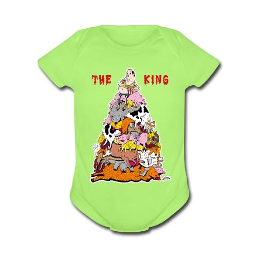 The King - Organic Short Sleeve Baby Bodysuit