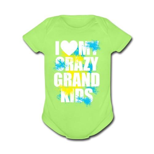 I Love My Crazy Grandkids - Organic Short Sleeve Baby Bodysuit