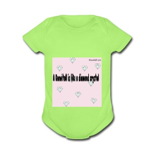 Diamond crystal Custom Design - Short Sleeve Baby Bodysuit