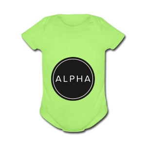 alpha team fitness - Short Sleeve Baby Bodysuit