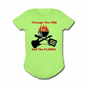 Fire and Flames BBQ - Short Sleeve Baby Bodysuit